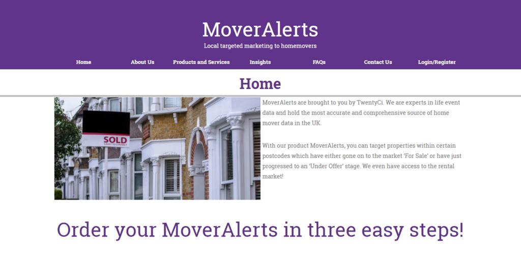 MoverAlerts website relaunch